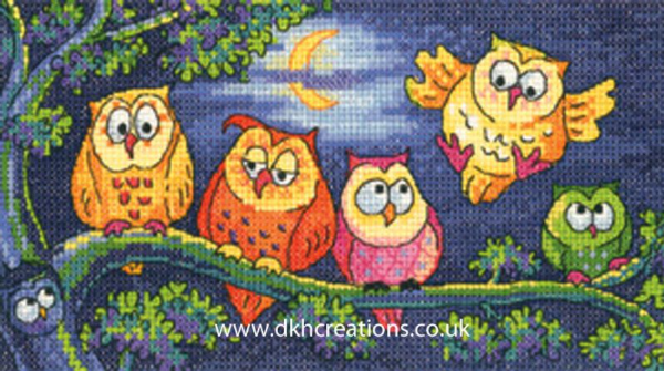 A Hoot Of Owls Cross Stitch Kit